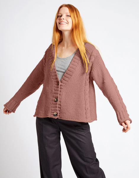Second wave cardigan nwy mellow mauve