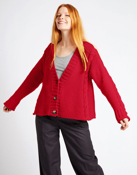 Second wave cardigan nwy true blood red
