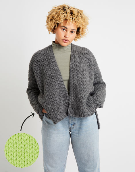Kelly cardigan am lime sorbet