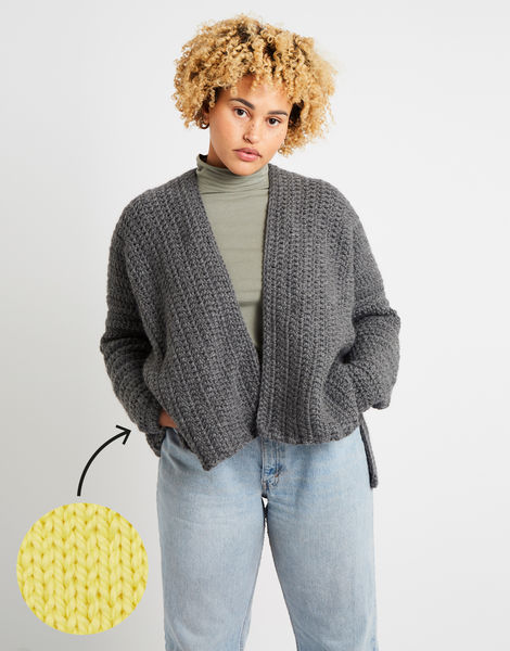 Kelly cardigan am chalk yellow
