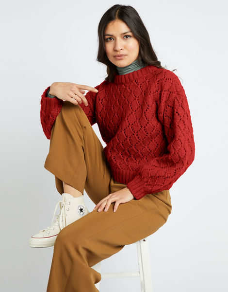 All star sweater fgy red ochre