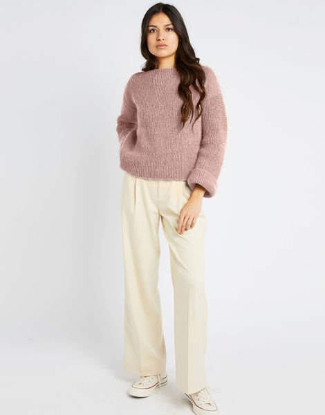 Stonger sweater fgy mellow mauve