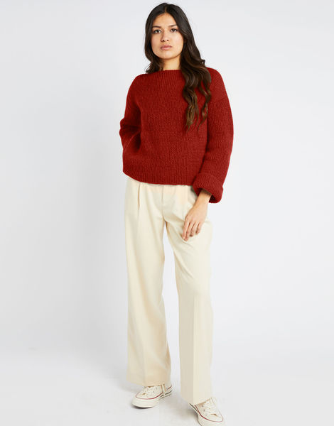 Stonger sweater fgy red ochre