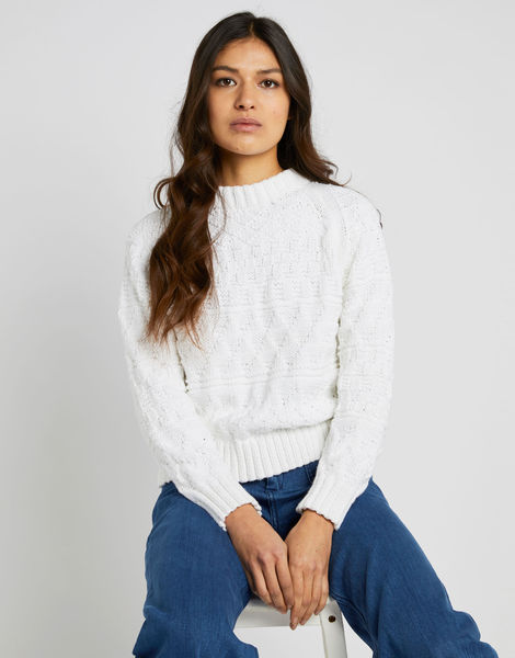 Sanches sweater shc white noise 01