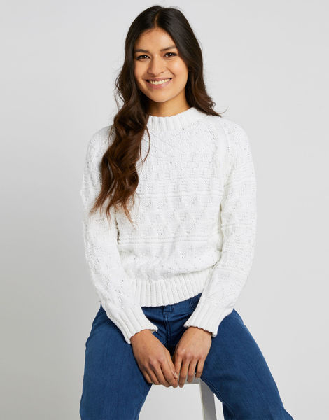 Sanches sweater shc white noise 02