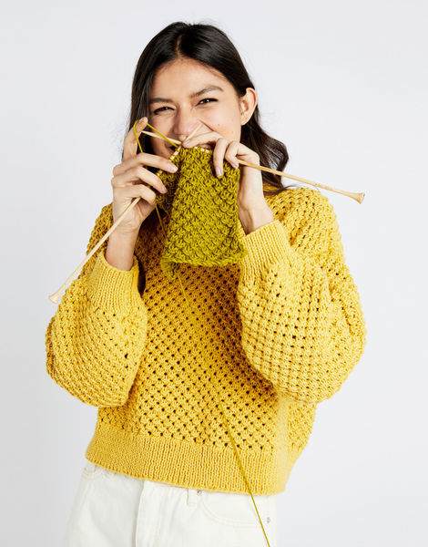 Salt sweater shc chalk yellow 07