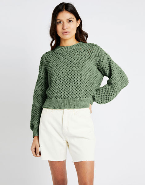 Salt sweater shc army green