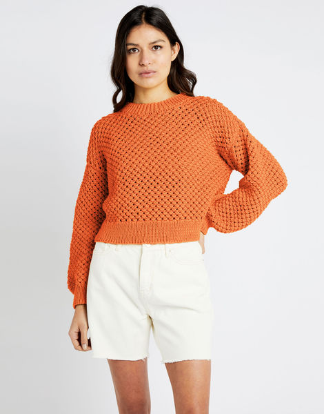Salt sweater shc bazaar orange