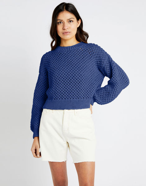 Salt sweater shc cobalt blue
