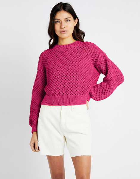 Salt sweater shc hot punk pink