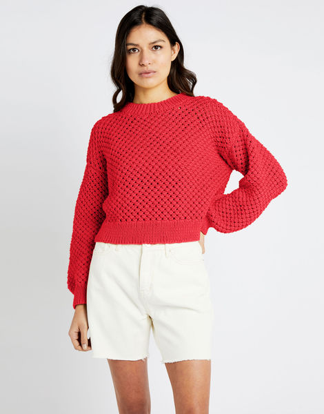 Salt sweater shc lipstick red