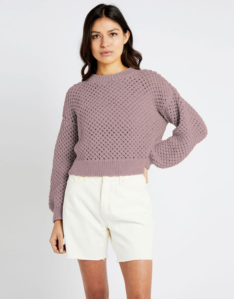 Salt sweater shc mellow mauve