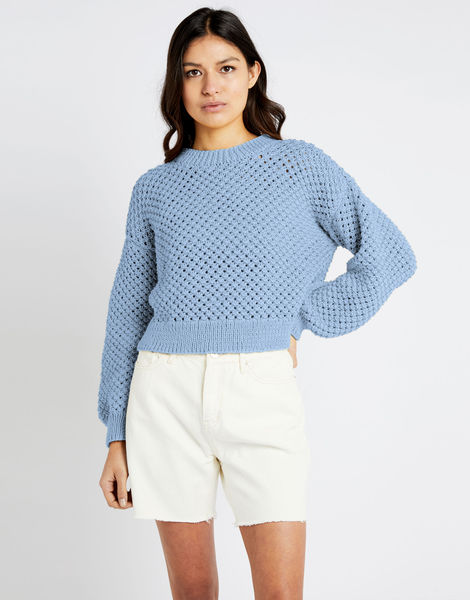 Salt sweater shc powder blue