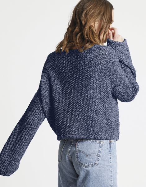 Julia sweater billie jean bjy indigo denim