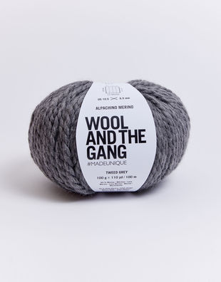 Alpachino merino am tweed grey
