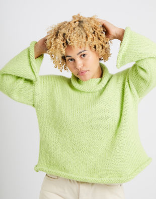 Audrey sweater am lime sorbet 10