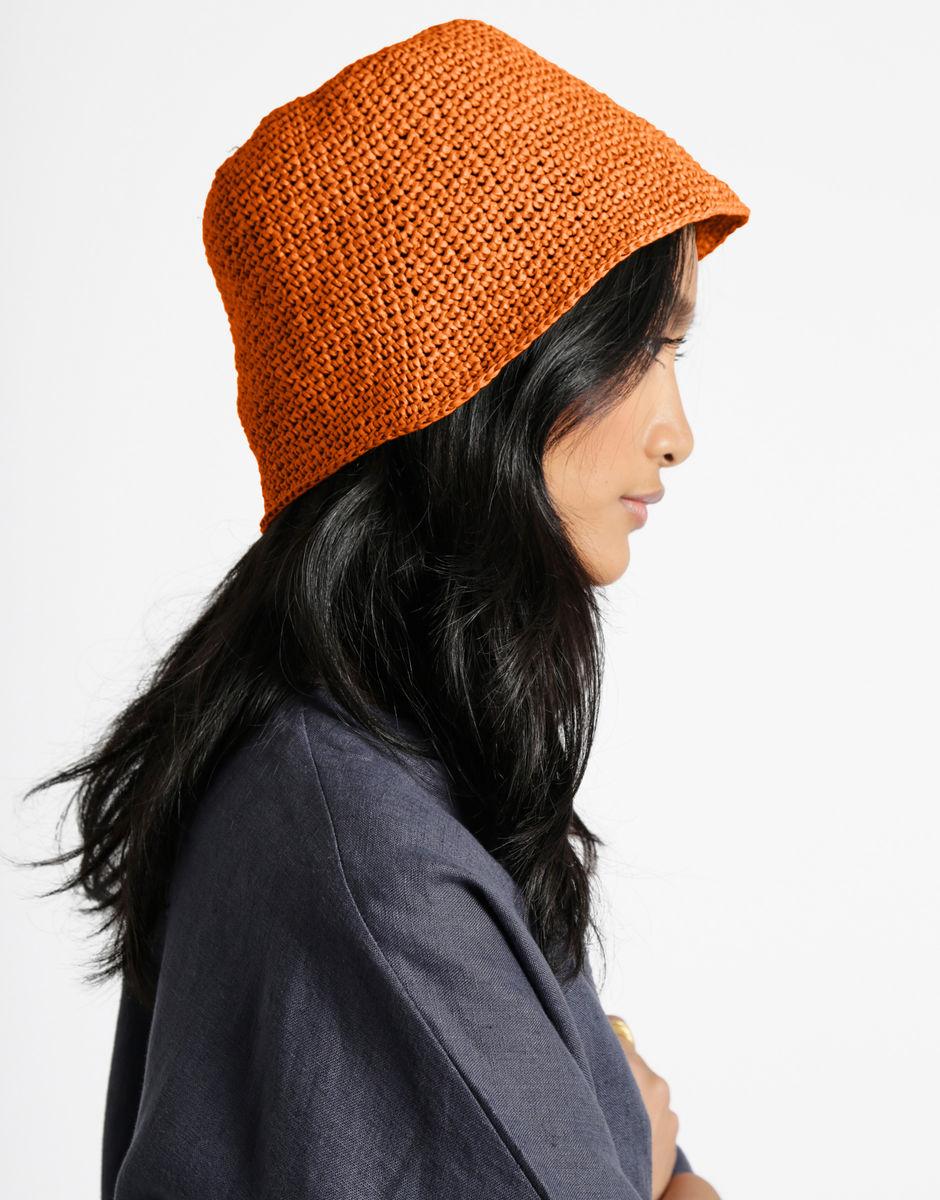 Grey crocheted wool clochea bowler hat bucket hat women/'s cap 3 in 1