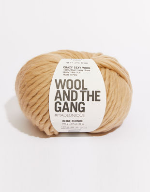 Crazy sexy wool csw blonde beige
