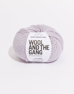 Super trouper yarn sty lilac powder