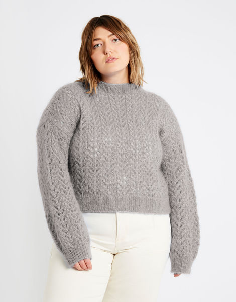 Toto sweater tcm mohair dusty grey %281%29