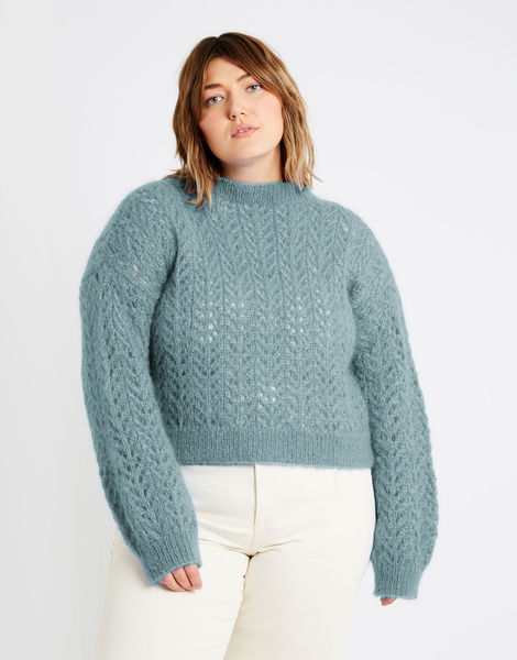 Toto sweater tcm mohair blue chalk
