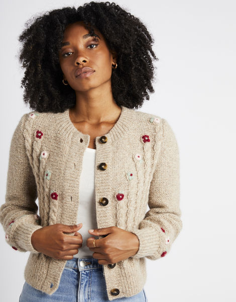 Edith cardigan fgy seashell beige 11