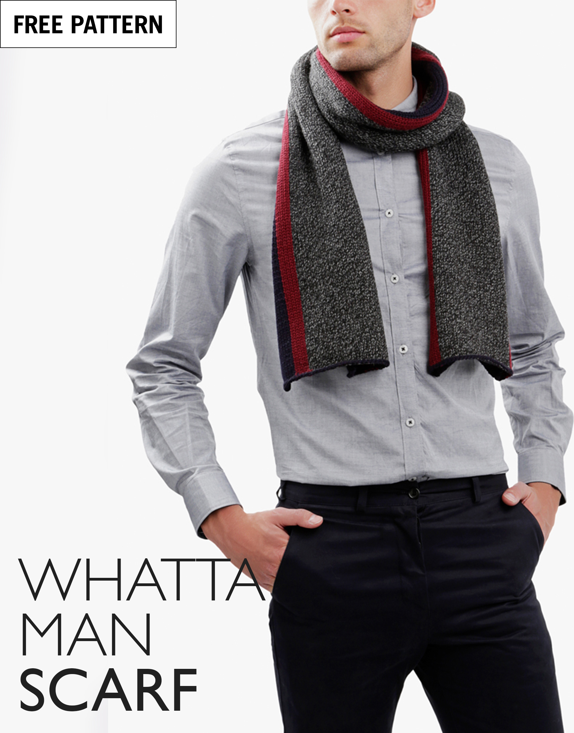 Portrait free pattern index whatta man scarf