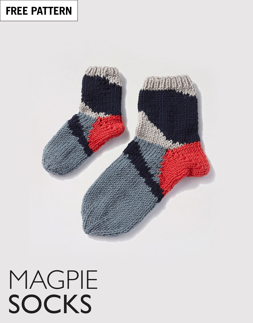Free pattern index magpie socks