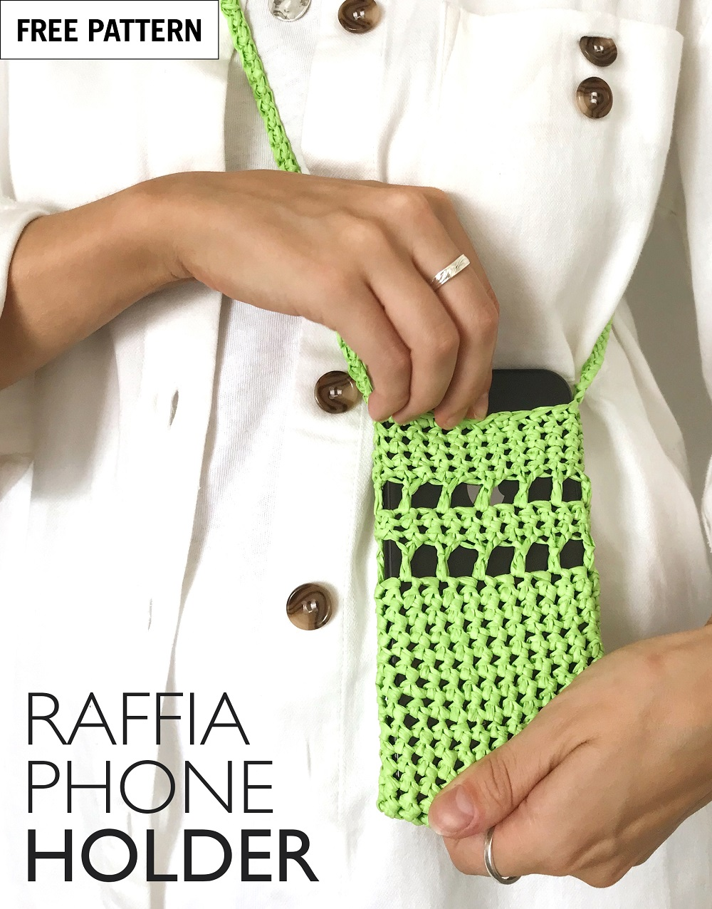 Free pattern index raffia phone holder